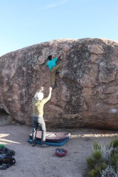 Dylan working at the Sacrificial Boulder (1)